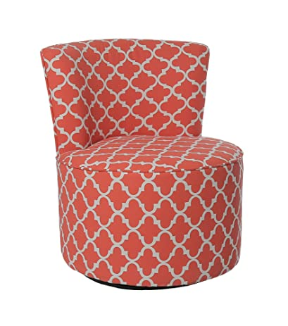 Amazon.com: Candace & Basil Accent Chair - Swivel Base / Coral ...