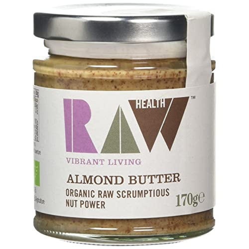 Raw Health Organic Whole Almond Butter 170g (Pack of 2)