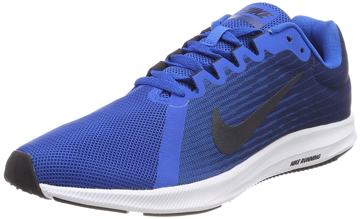 Nike Downshifter 8, Zapatillas de Running Para Hombre 39 EU|Azul (Blue Nebula/Dark Obsidian-navy-white-black 401)