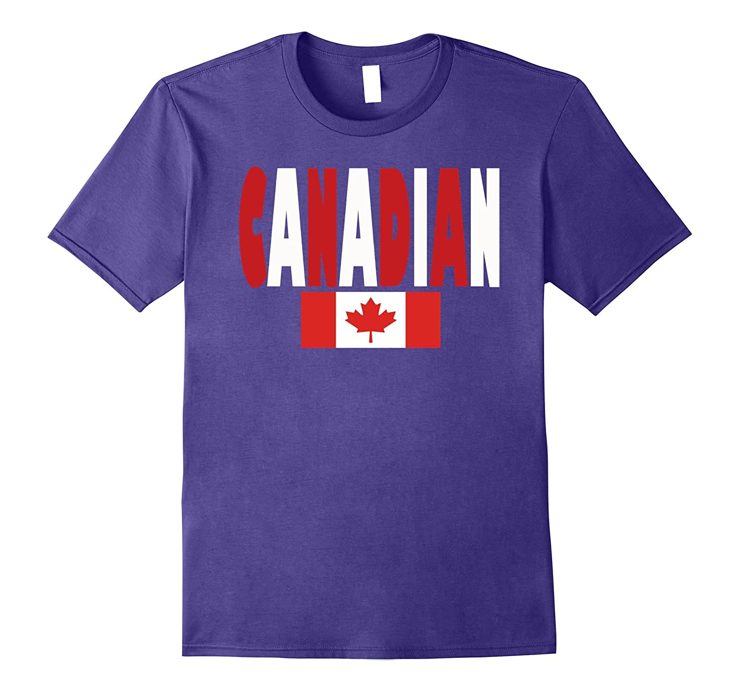 Canadian Flag-Canadian In Flag Colors- Canada T-Shirt-FL