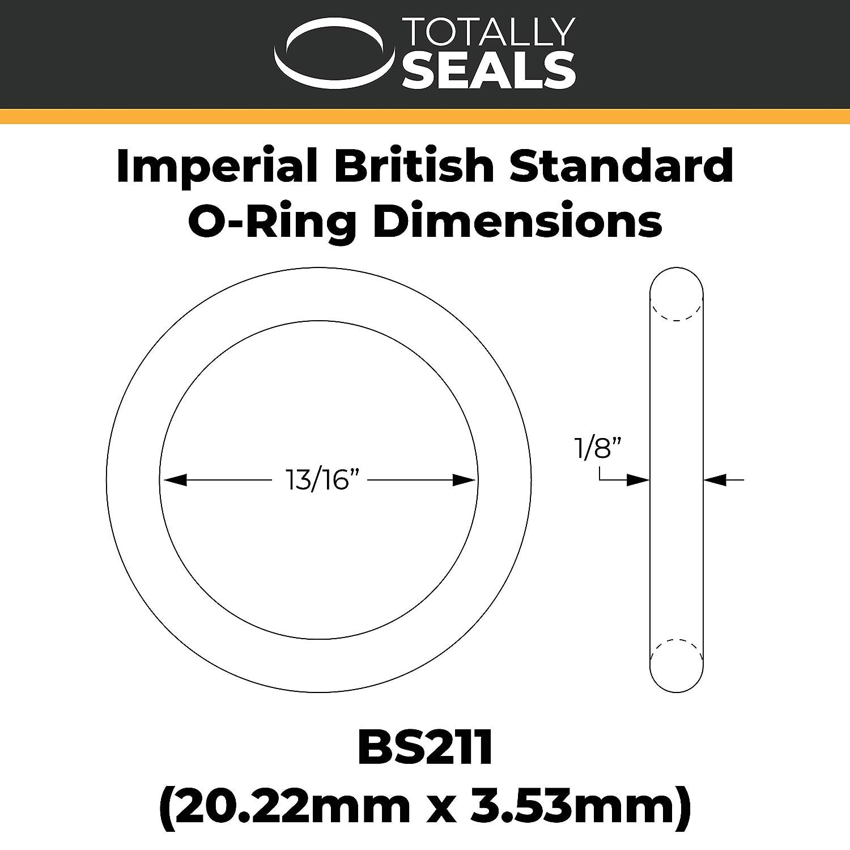 20,22 mm x 3,53 mm 1 BS211 Joint torique imp/érial en caoutchouc nitrile 70 A Noir