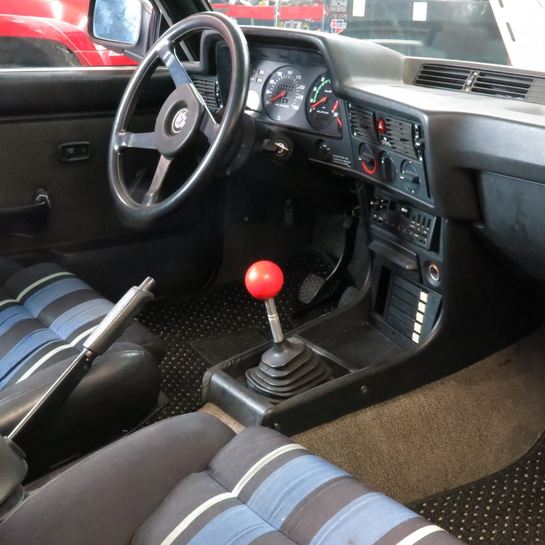 American Shifter 100459 Red Shift Knob with M16 x 1.5 Insert Orange Shift Pattern 8n