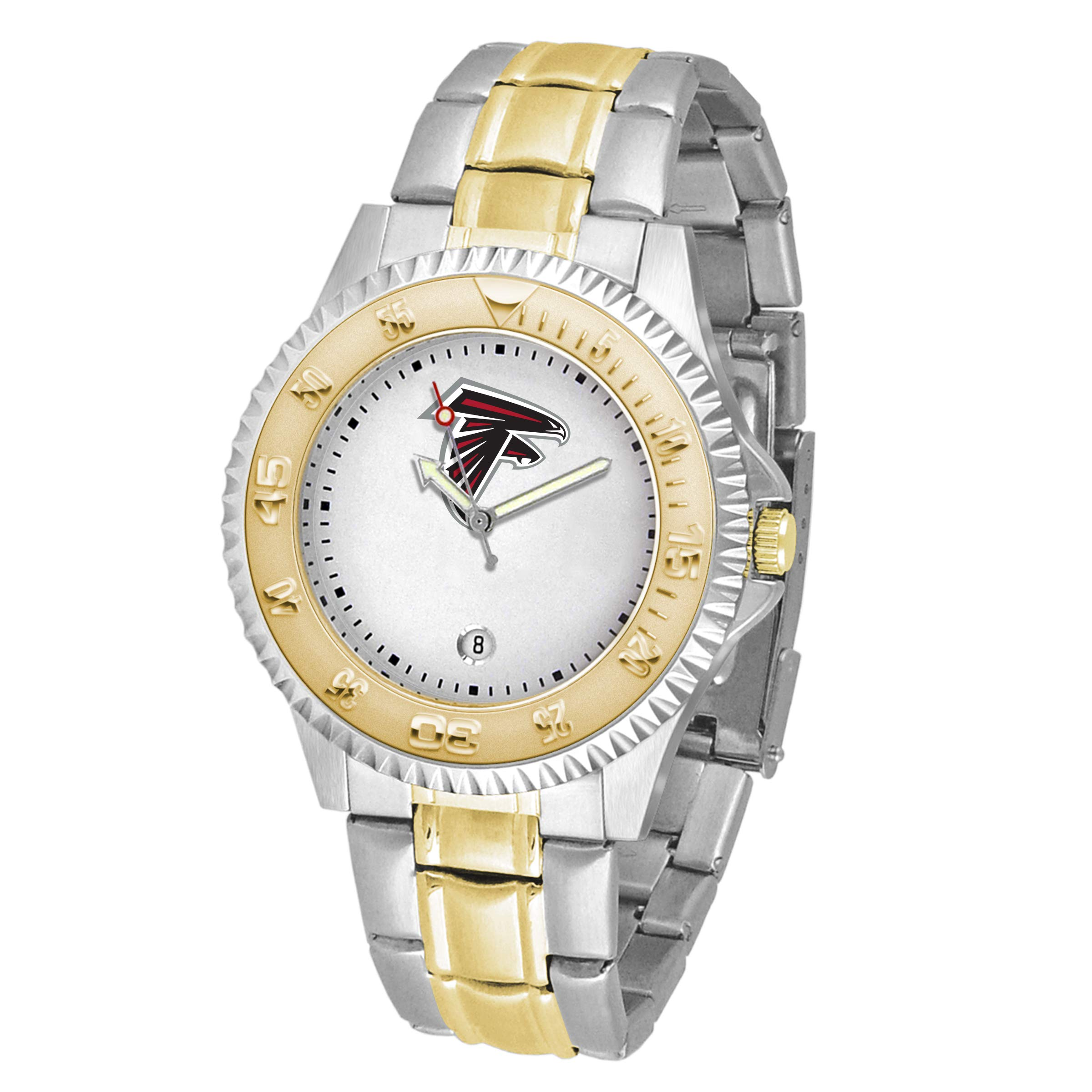 Game Time NFL Atlanta Falcons Mens Two-Tone CompetitorWrist Watch, White, One Size