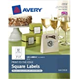 Avery Print-to-the-Edge Square Labels, 2 x 2-Inches, Pack of 120 (22816)