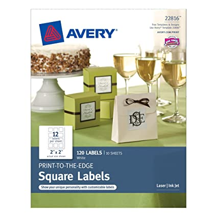 amazon com avery print to the edge square labels 2 x 2 inches