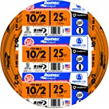 Southwire 28829021 25' 10/2 with ground Romex brand SIMpull residential indoor electrical wire type NM-B, Orange