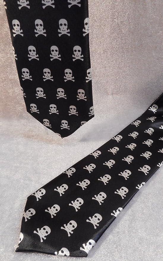 Corbata de Cráneo Calavera Gothic Fantasy Textil tejido decorativo ...