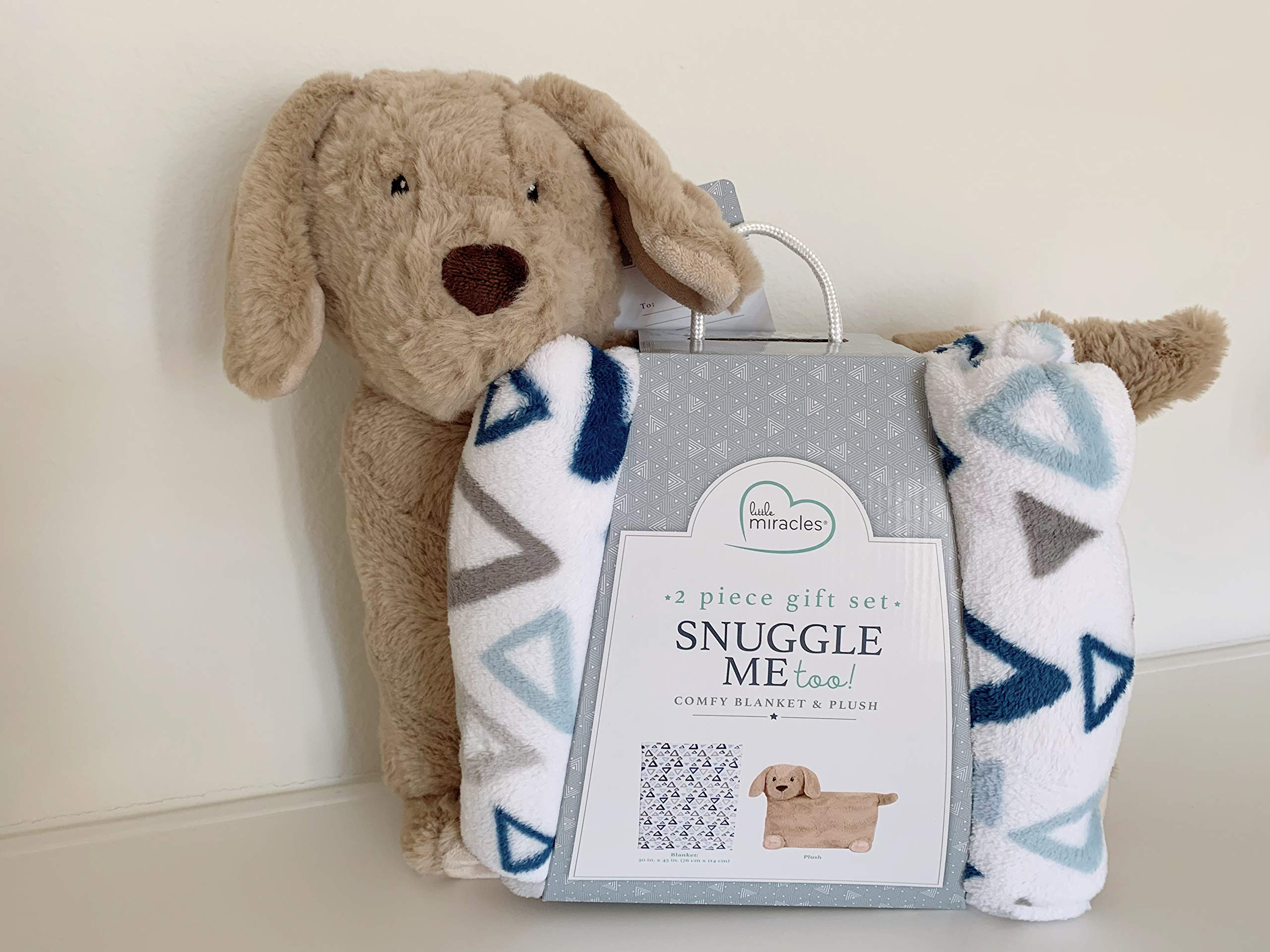 Little Miracles Snuggle Me Too! 2 -Piece Comfy Blanket and Plush Gift Set- Dog