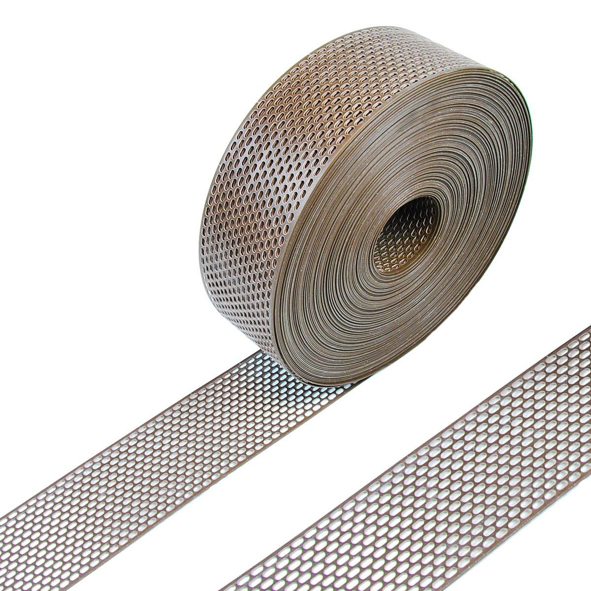 5 m PVC anthrazit Vogelschutzgitter // L/üftungsgitter // Traufgitter 80 mm