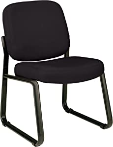 OFM Armless Reception Chair - Mid-Back Guest Chair, Black