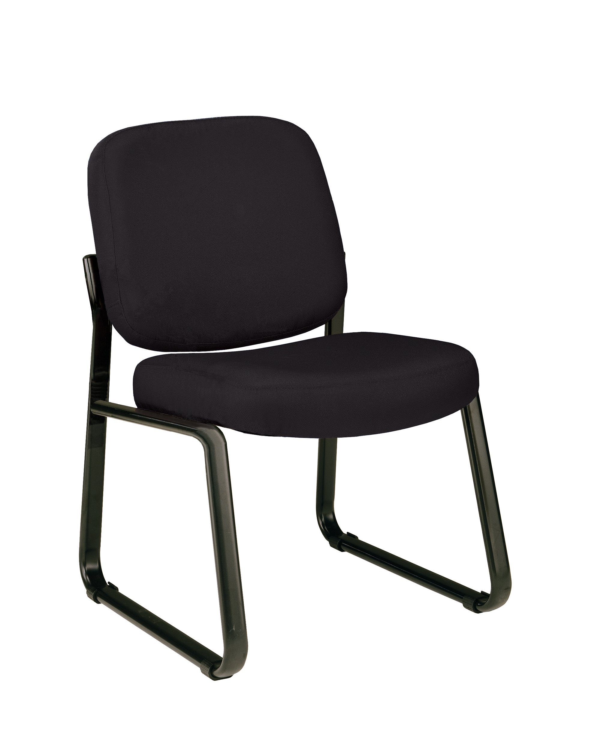 OFM Armless Reception Chair - Mid-Back Guest Chair, Black by OFM