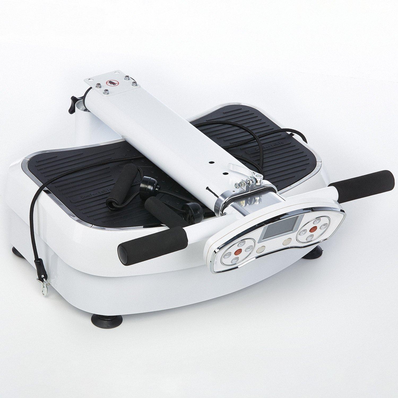 skandika SF-1400 Plataforma de vibración profesional con superficie de entrenamiento antideslizante, grande, bandas de entrenamiento, plegable, vibración 3D ...