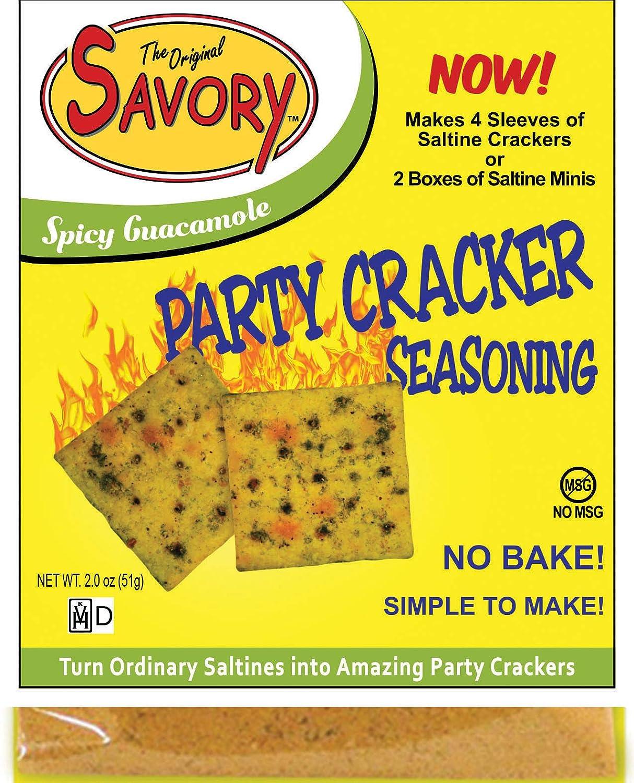 Savory Saltine Seasoning, 1.4 Ounce, Spicy Guacamole, 4 Pack