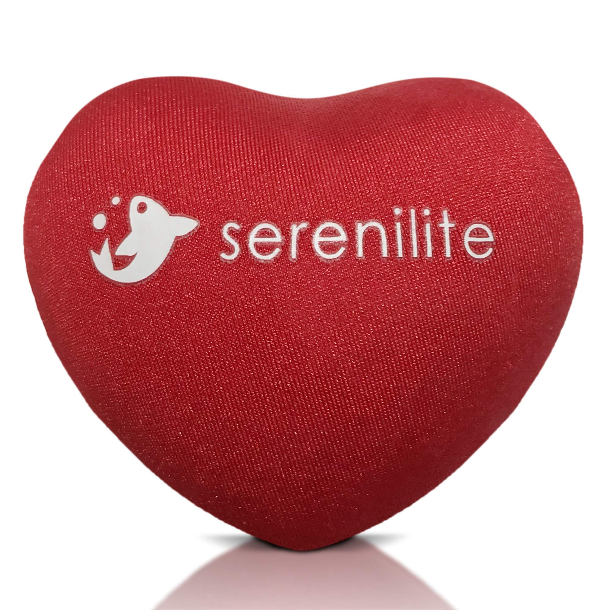 Serenilite Hand Therapy Stress Ball - Optimal Stress Relief - Great for Hand Exercises and Strengthening (red)