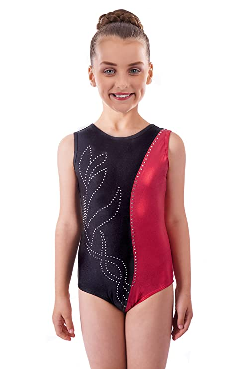 87d75e38b10e Amazon.com  Vincenza Dancewear Deluxe Edition  Metallic Ruby Red ...