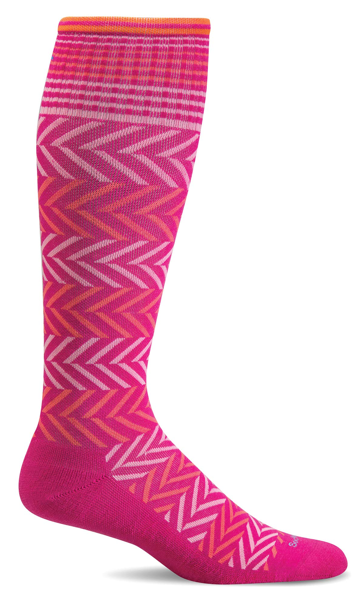 Sockwell Women's Chevron Graduated Compression Socks, Azalea - Medium/Large by Sockwell