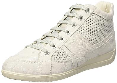 Geox D Myria B, Zapatillas para Mujer, Blanco (Off WHITEC1002), 39 EU