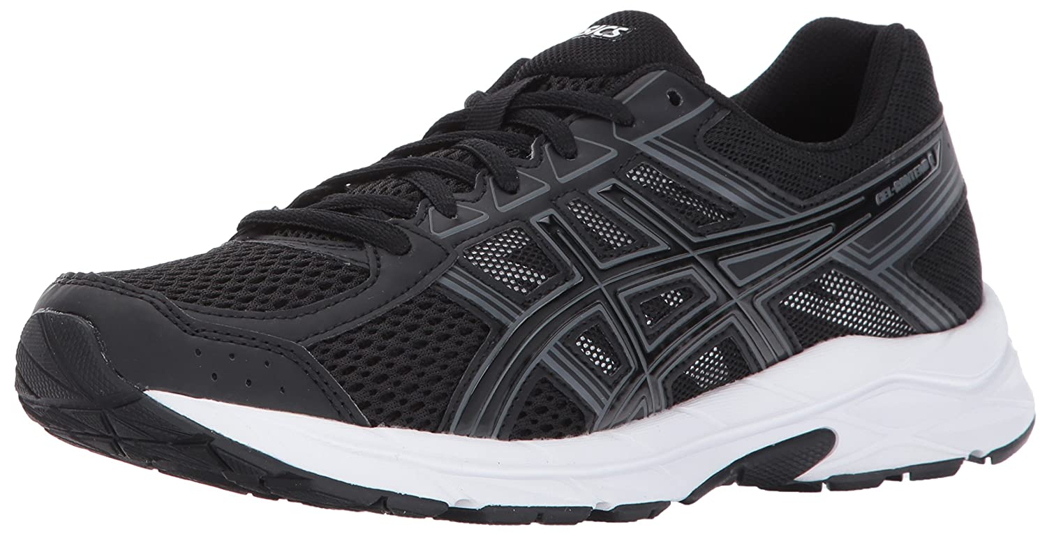 ASICS Womens Gel-Contend 4 Low Top Lace Up Running Sneaker B01MQZWE2O ブラック/カーボン 8.5 D - Wide