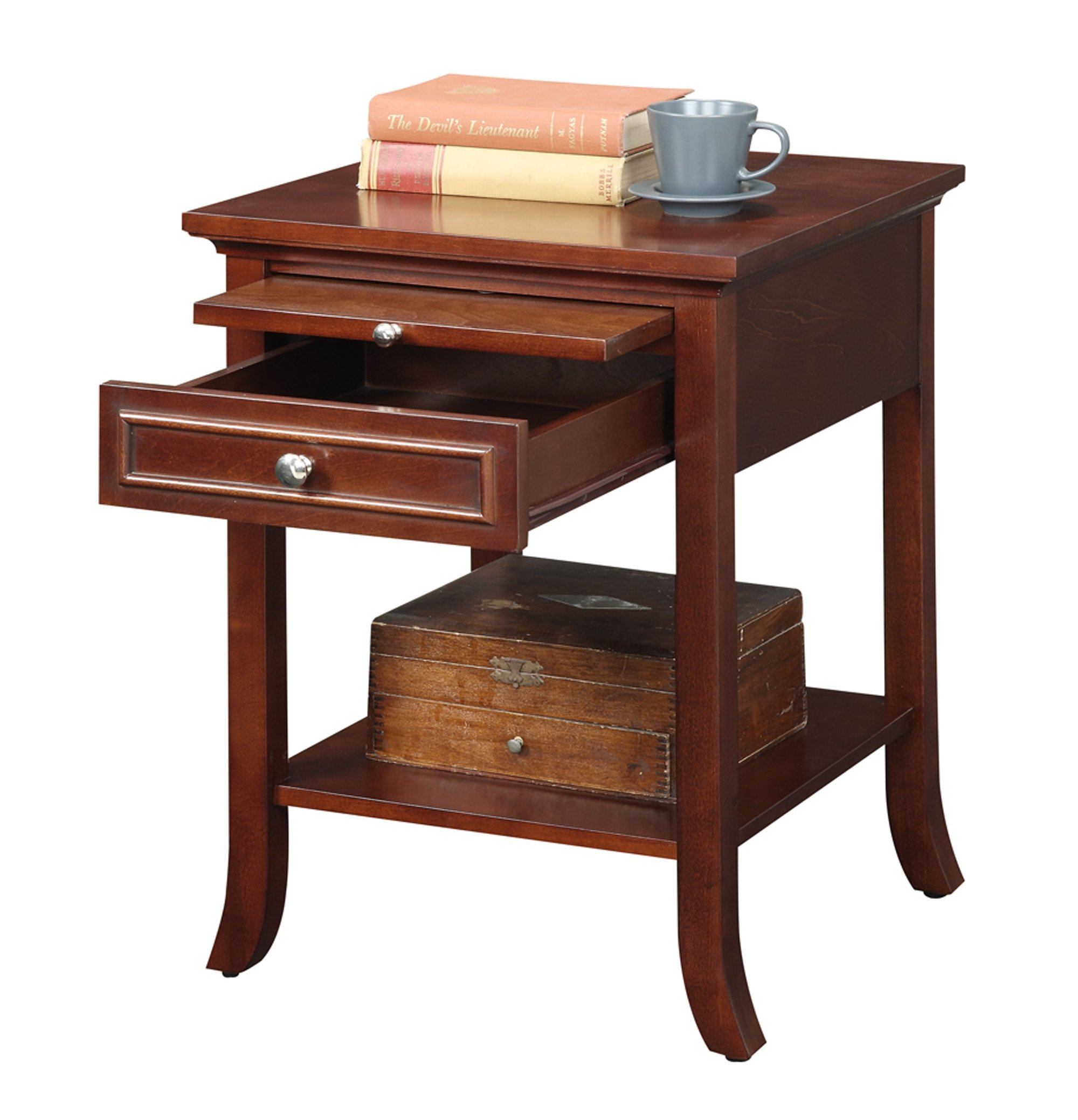 Convenience Concepts American Heritage Collection Logan End Table with Drawer and Slide, Mahogany by Convenience Concepts (Image #2)