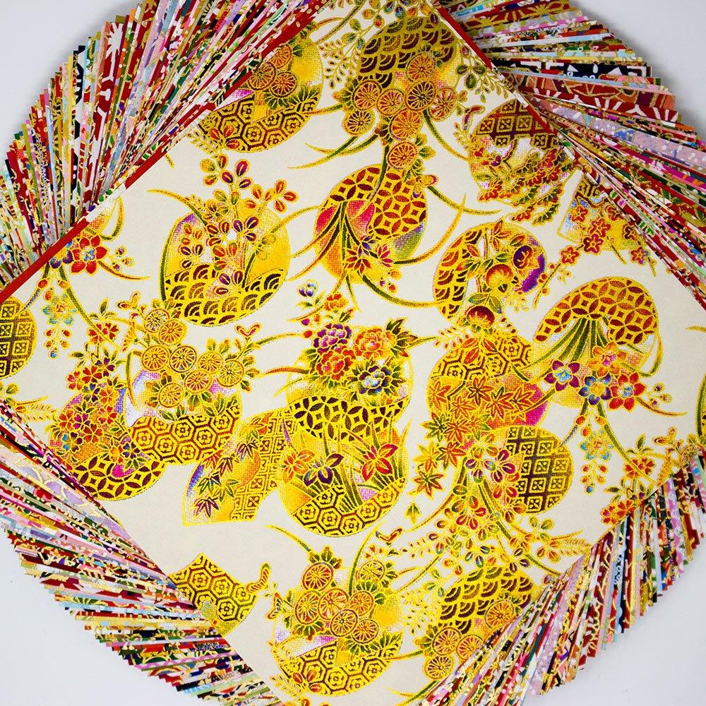 15 x 15 cm 144 Blatt mit verschiedenen Farben und Motiven Washi-Papier Raylinedo/® Origimi-Papier zum Falten