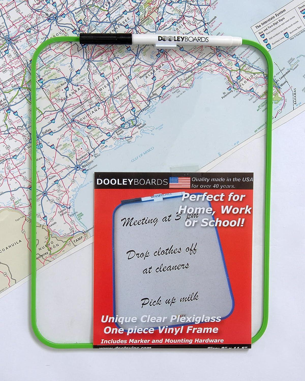 Dooley Vinyl Framed Plexiglas Dry Erase Board, 8.5 x 11 Inches (811MBPXV)