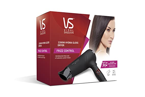 Vidal Sassoon Hydra brillante Frizz Control Secador: Amazon.es: Salud y cuidado personal