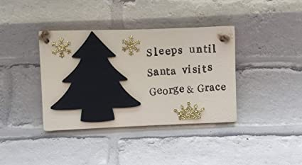 adonis554dan christmas countdown sleeps until santa visits santa countdown childrens christmas decorations personalised christmas countdown