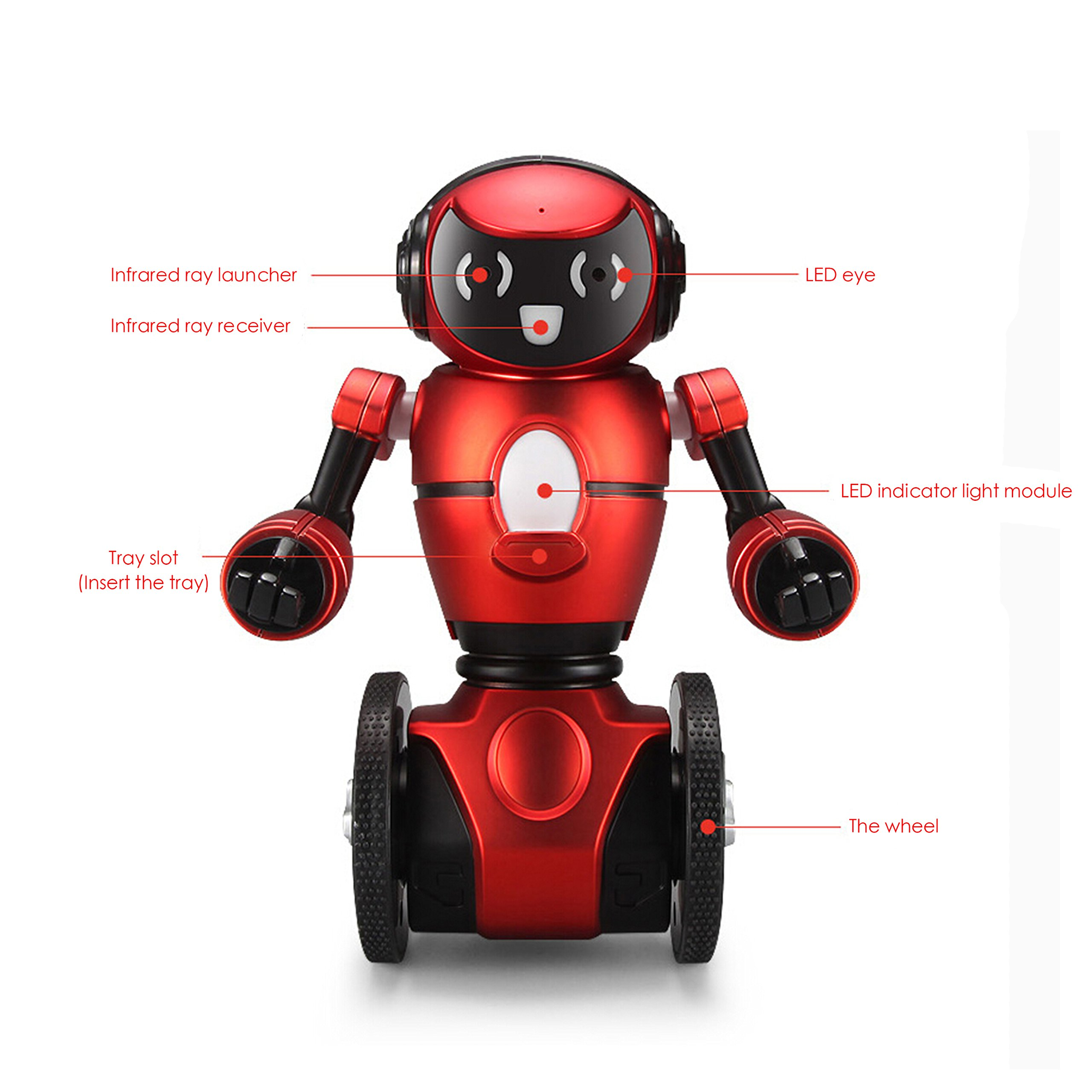 WLToys Intelligent Two Wheels Balance RC Robot Toy with Dance Music Avoidance Human-computer Interaction Mode for Children Kids as a Gift *Colors May Vary. by WLtoys (Image #5)