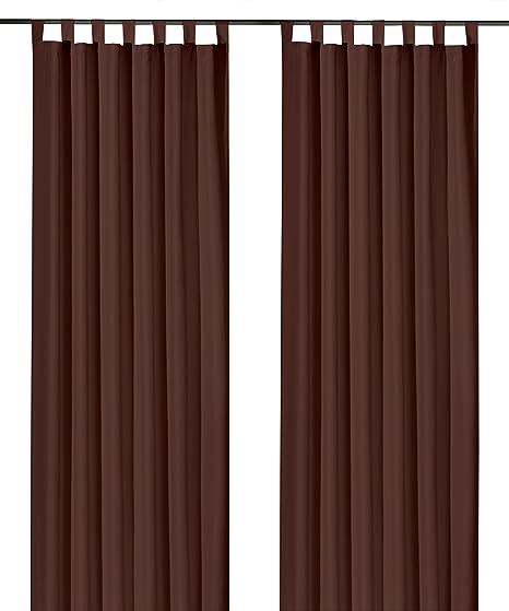 schoko Gardine  Vorhang Höhe 145cm  breite 300cm  Store  transprent