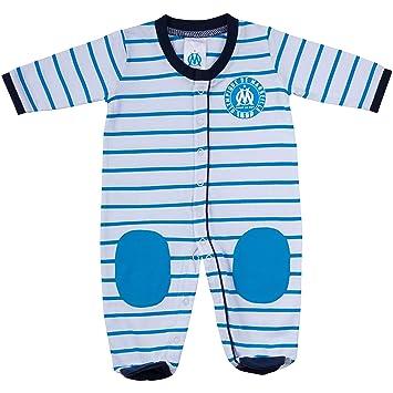 8c61bd4b84a94 Grenouillère pyjama bébé garçon OM - Collection officielle OLYMPIQUE DE  MARSEILLE - 3 mois