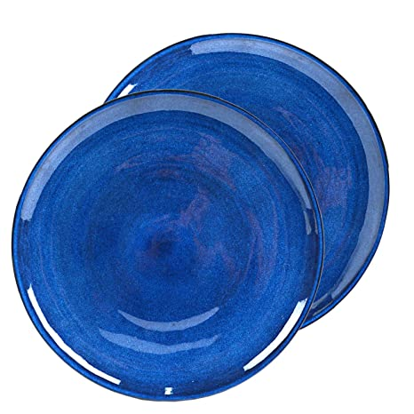 Amazon.com: roro - Juego de 2 platos llanos de cerámica de ...