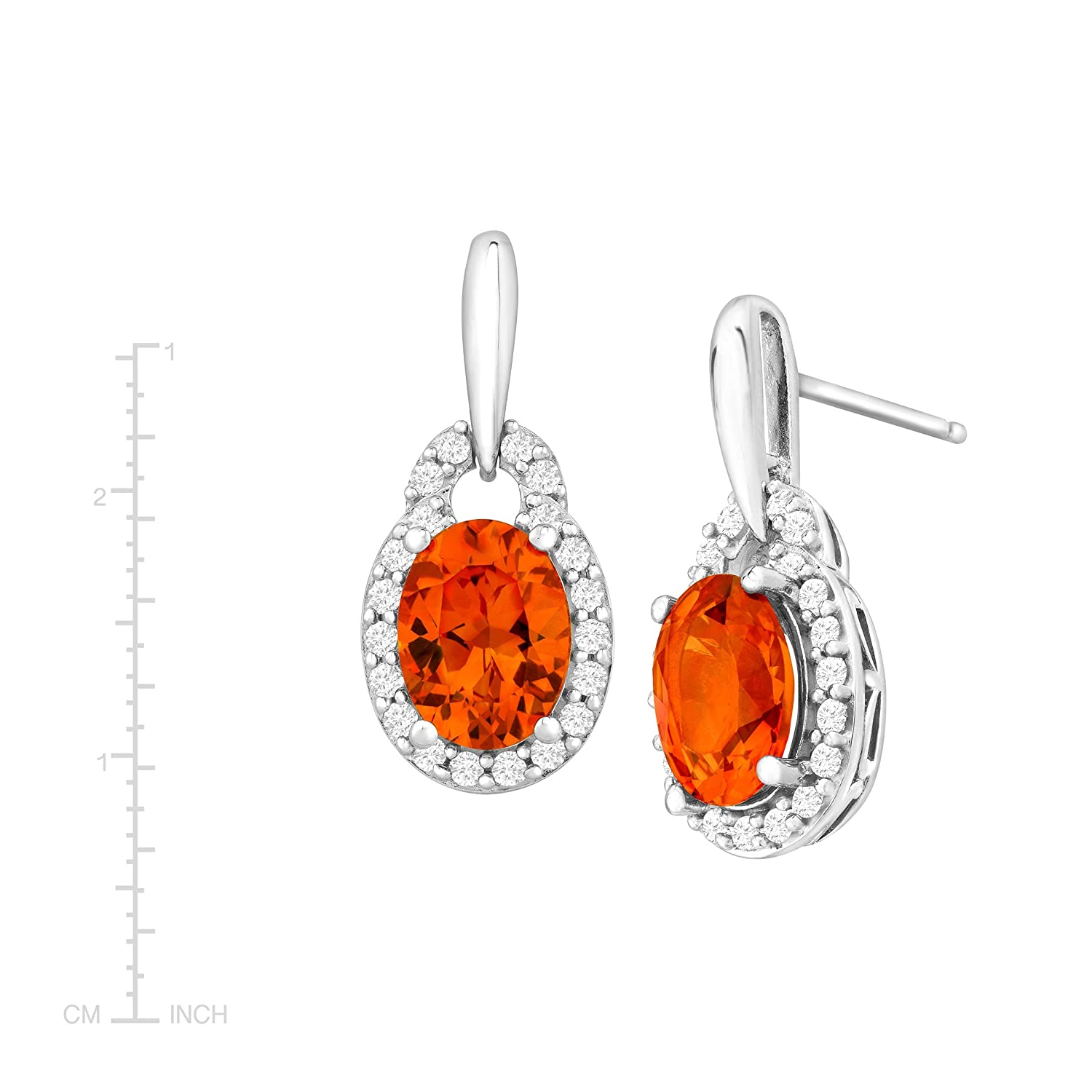 Amazon 3 3 4 ct Created Padparadscha & White Sapphire Drop