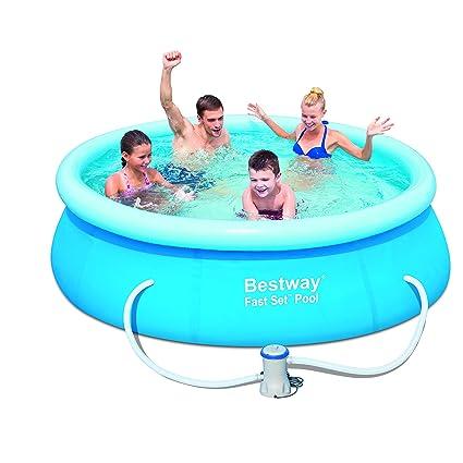 Amazon com : Bestway 57099 Fast Set Pool Set, 8' x 26