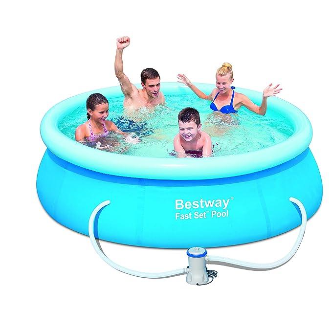 Amazon.com: Bestway 57099 – Set de piscina Fast Set, 8 x 26 ...