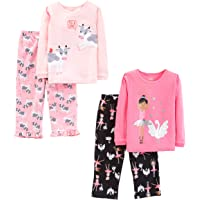 Simple Joys by Carter's Niñas conjunto de pijama, Pack de 4