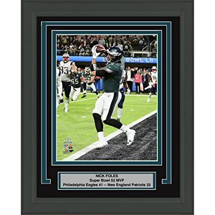 bfb16f250cf Amazon.com: Framed Nick Foles Philadelphia Eagles Super Bowl 52 MVP  Champions 8x10 Football Photo Professionally Matted #2: Sports Collectibles