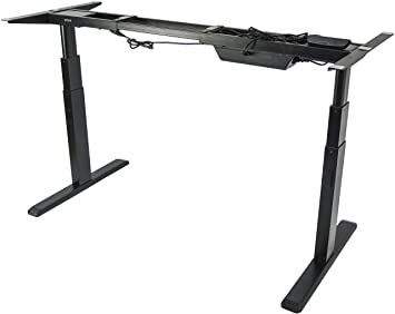 vivo electric stand up desk frame only solid steel w dual motor ergonomic standing height