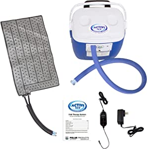 Polar Products Active Ice® 3.0 Universal Rectangular Pad Cold Therapy System with Programmable Digital Timer, 16 Quart Cooling Reservoir