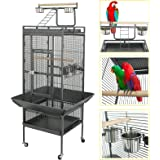 """Super Deal 53""""/61""""/68"""" Large Bird Cage Play Top Parrot Chinchilla Cage Macaw Cockatiel Cockatoo Pet House (61 Inch)"""