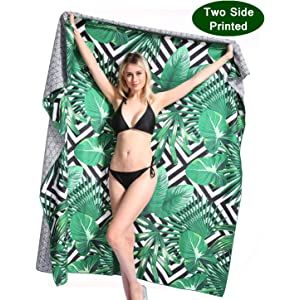Oversized Microfiber Beach Towel Blanket - Quick Fast Dry Sand Free Extra large Big Outdoor Travel