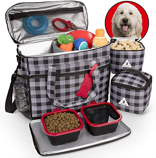 h Cute Pup Dogs 3 Set Packing Cubes,2 Various Sizes Travel Luggage Packing Organizers