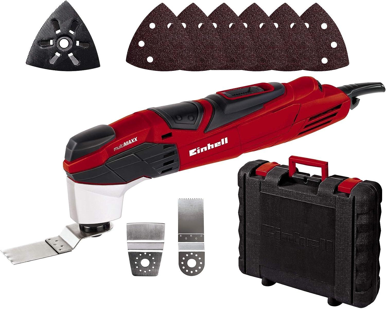 Einhell 4465040 Multiherramienta eléctrica RT-MG 200 E, maletín BMC, 200 W, oscilaciones 30 000 - 42 000 min-1