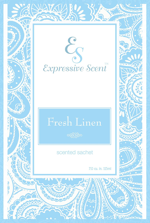 Fresh Linen Scented Sachet Envelope Air Freshener By Expressive Scent - 6 Pack