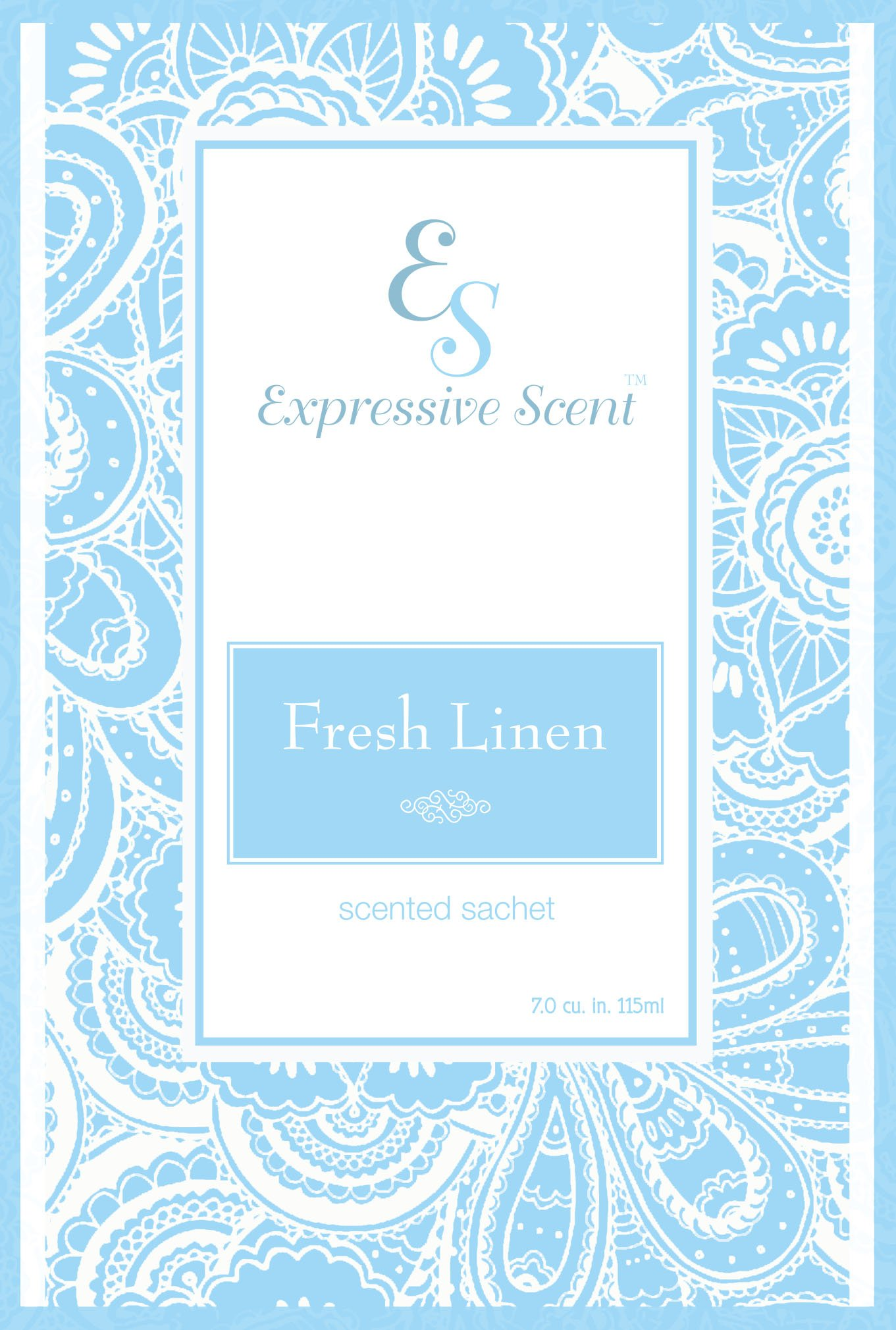 6 Pack Fresh Linen Large Scented Sachet Envelope By Expressive Scent