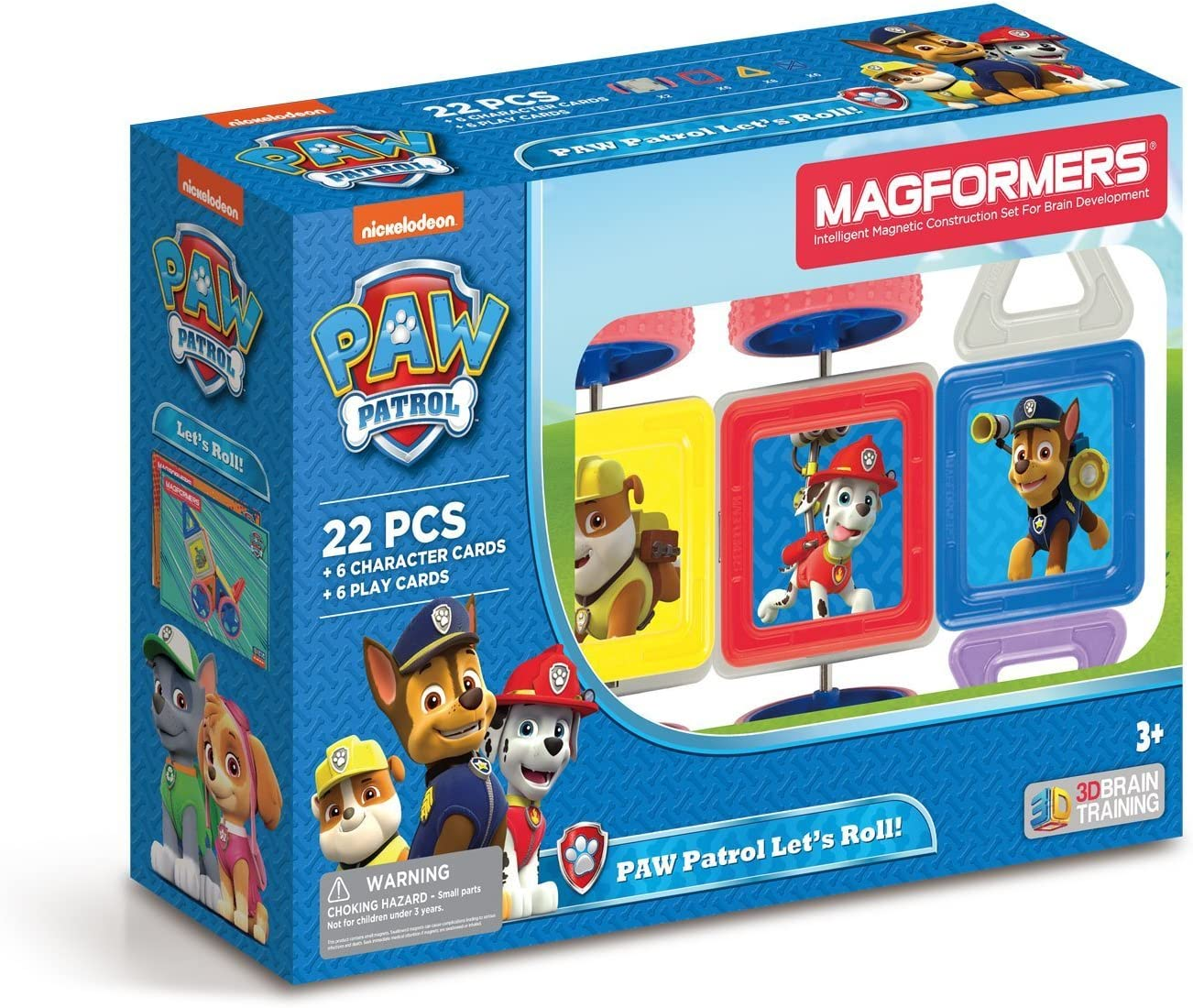 Amazon Com Magformers Paw Patrol 22 Pieces Let S Roll Rainbow Colors Educational Magnetic Geometric Shapes Tiles Building Stem Toy Set Ages 3 Toys Games