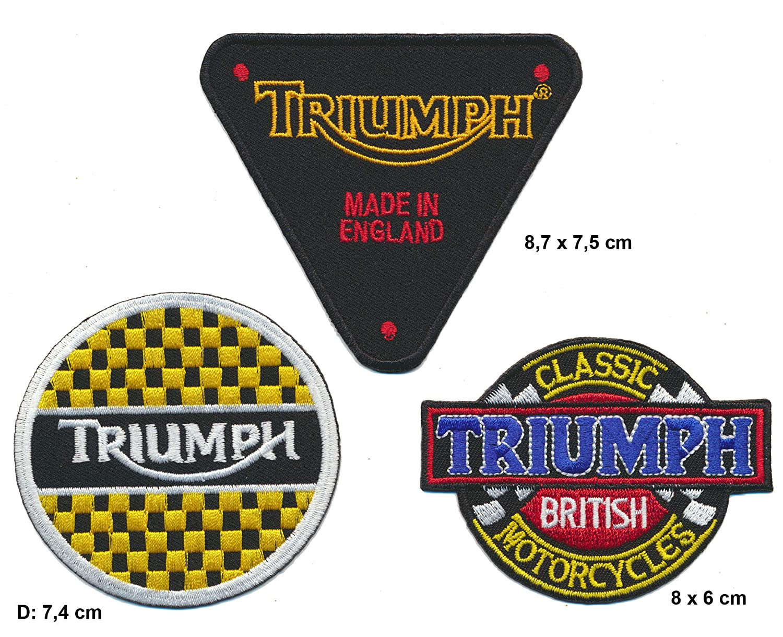 Triumph toppa patch 3/pezzi Biker England Turbo spedizione