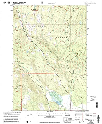 Amazon Com Yellowmaps Trout Lake Wa Topo Map 1 24000 Scale 7 5 X