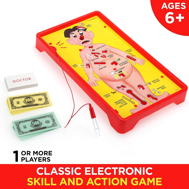 Juego de Mesa electrónico Operation con Cartas para niños a Partir de 6 años (Exclusivo de Amazon): Amazon.es: Juguetes y juegos