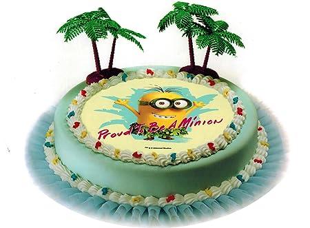Decoración para Tartas Minions Cumpleaños Infantil 3 Piezas ...