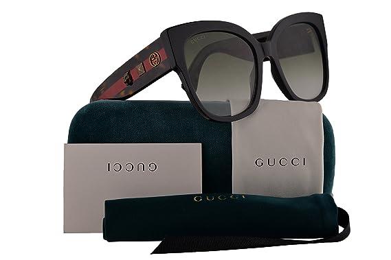 8294ea1dce Amazon.com  Gucci GG0059S Sunglasses Black Havana w Green Lens 55mm 001  GG0059 S GG 0059 S GG 0059S  Clothing